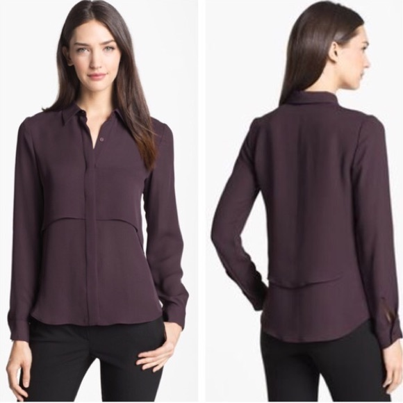 3508b444811 Theory • Rosita Silk Blouse Deep Purple. M_5b0ce4963b160834aa35e0c9